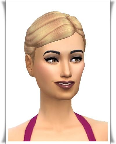 Birksches sims blog: My Spot Knot Hair for Sims 4