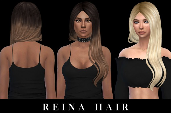 Leo 4 Sims: Reina Hair recolored 2 for Sims 4