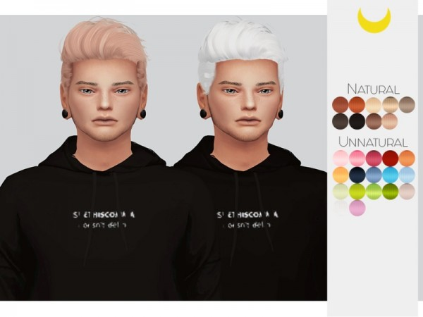 The Sims Resource: Stealthic`s Haunting hair retextured by Kalewa a for Sims 4
