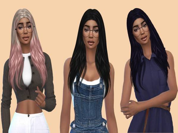 The Sims Resource: Nightcrawler`s Breeze Hair Recolored by Teenageeaglerunner for Sims 4
