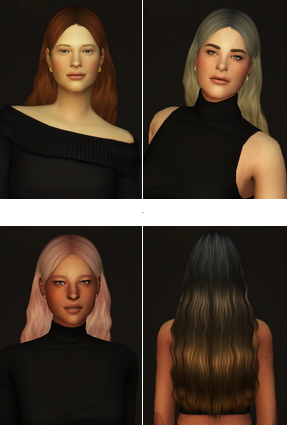 Rusty Nail: Simpliciaty`s Wonderland hair retextured for Sims 4