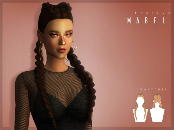 Enrique: Mable Hair for Sims 4