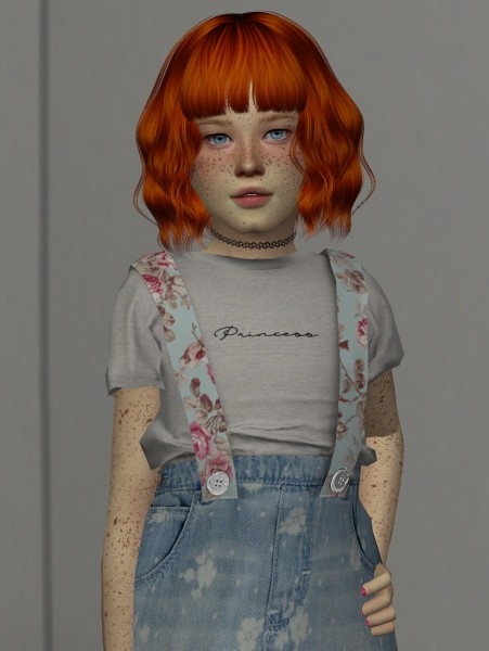 Coupure Electrique: Anto`s Nhoa hair retextured  kids and toddlers version for Sims 4