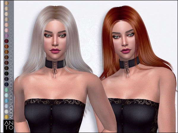The Sims Resource: Alicia hair by Anto for Sims 4