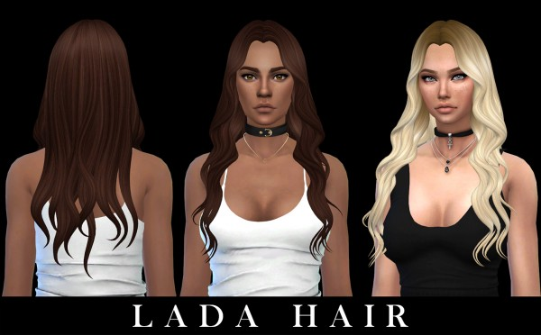 Leo 4 Sims: Lada Hair 2 retextured for Sims 4
