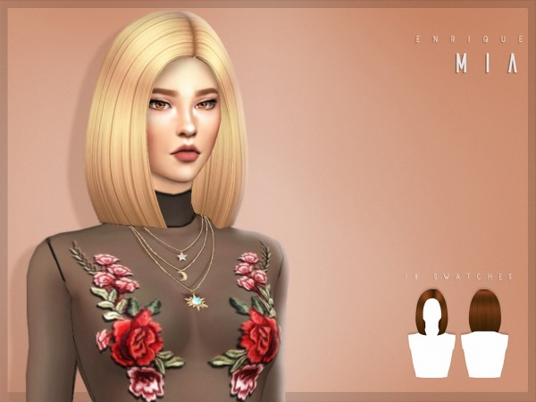 Enrique: Mia hair for Sims 4