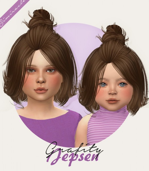 Simiracle: Jepsen hair retextured   kids and toddlers version for Sims 4