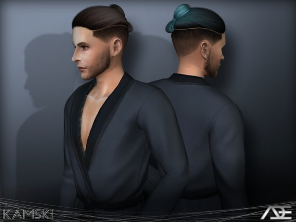 The Sims Resource: Kamski hair by Ade Darma for Sims 4