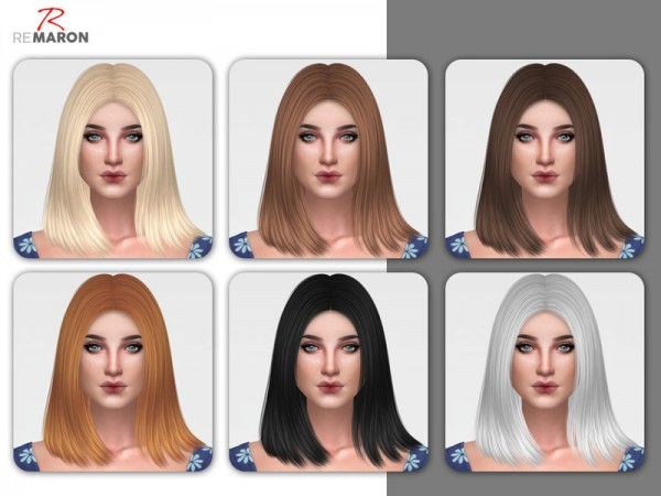 The Sims Resource: Coco hair retextured by Remaron for Sims 4