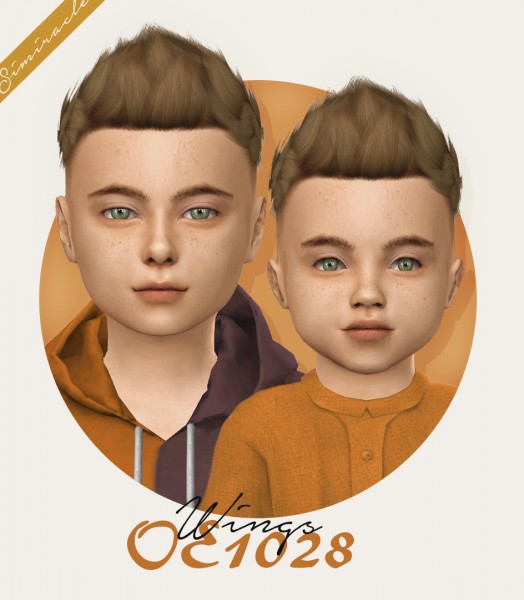 Simiracle: Wings OE1028 hair retextured for Sims 4