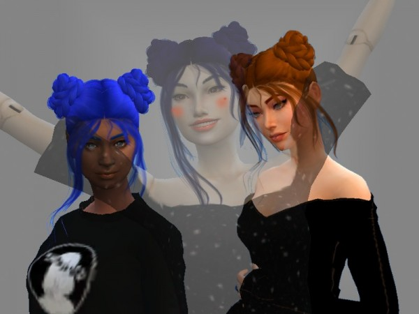 The Sims Resource: Cute Hair Recolored by ScrapsGamer for Sims 4