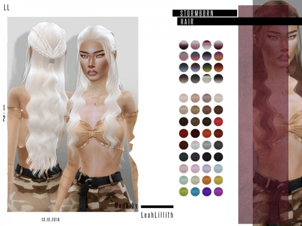 The Sims Resource: Stormborn Hair by Leah Lillith for Sims 4