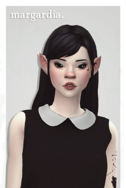 Cowplant Pizza: Margadia hair recolored for Sims 4