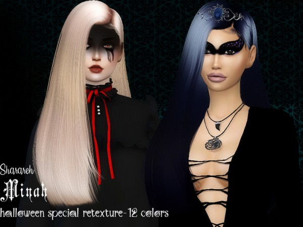 The Sims Resource: Miyah hair retextured by Sharareh for Sims 4