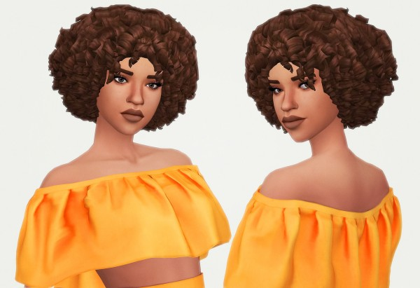 Kot Cat: Britt hair retextured for Sims 4
