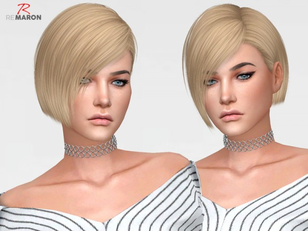 The Sims Resource: Ade` Dangerous hair retextured by Remaron for Sims 4