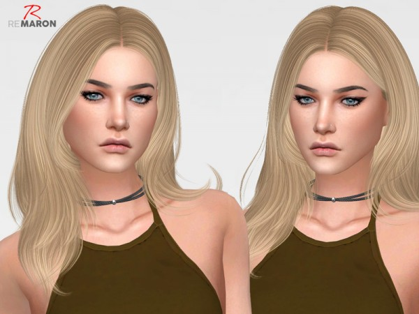 The Sims Resource: Kylie Hair Retextured by Remaron for Sims 4