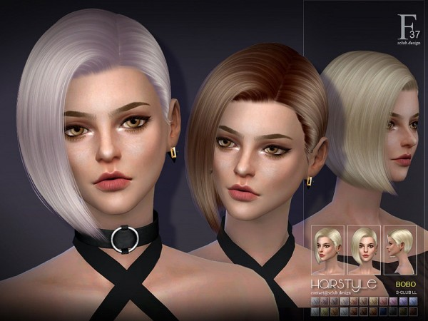 The Sims Resource: Hair bobo n37 by S Club for Sims 4