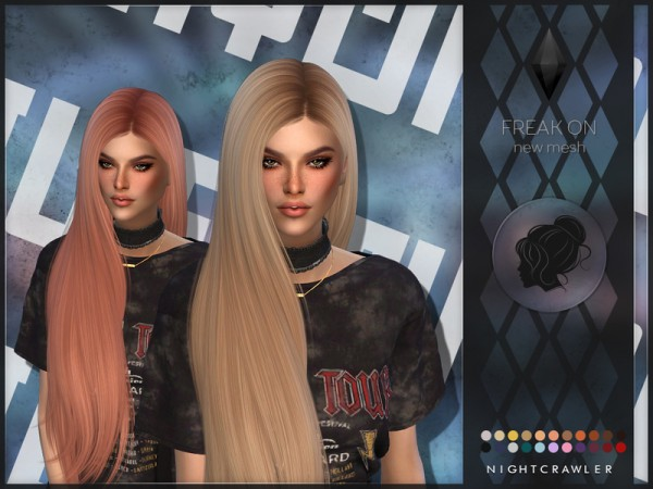 The Sims Resource: Freak On hair by Nightcrawler Sims for Sims 4