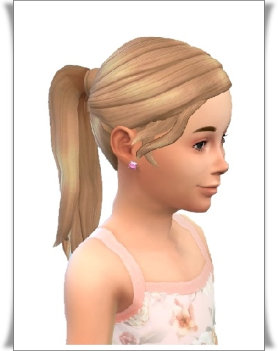 Birksches sims blog: Long Ponytail hair for girls for Sims 4