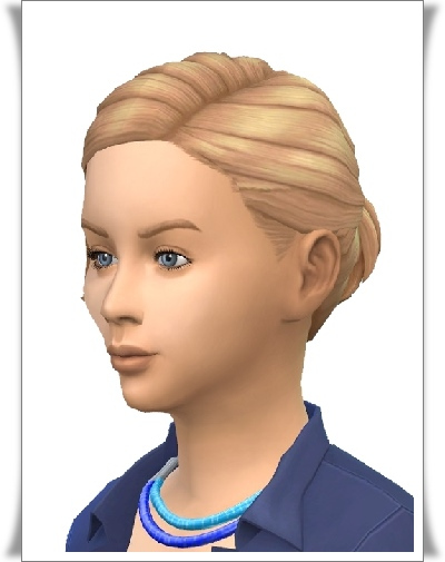 Birksches sims blog: Fancy Small Ponytail hair for kids for Sims 4