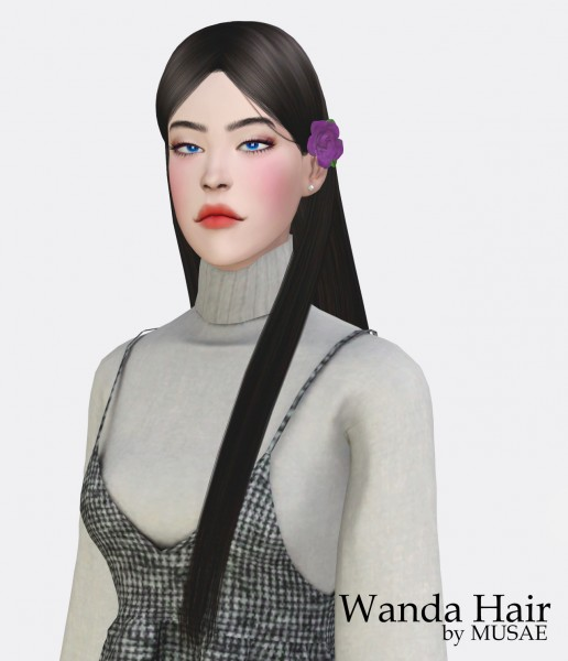 Effie: Wanda hair by Musae for Sims 4