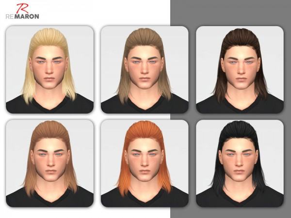 The Sims Resource: Thunder Hair Retextured by Remaron for Sims 4