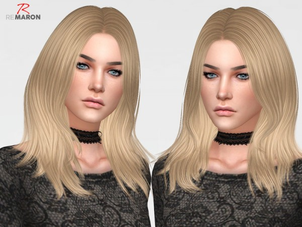 The Sims Resource: GetUp Hair Retextured by remaron for Sims 4