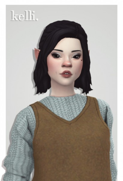 Cowplant Pizza: Kelli hair retextured for Sims 4