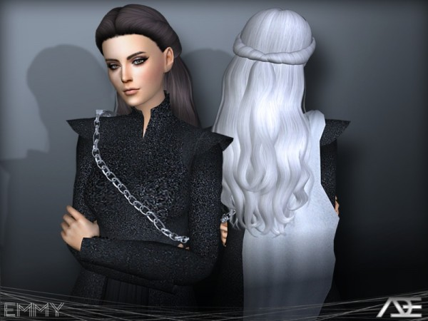 The Sims Resource: Emmy Hair by Ade Darma for Sims 4