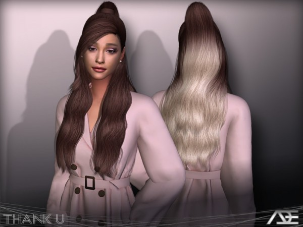 The Sims Resource: Thank U hair by Ade Darma for Sims 4
