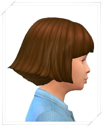Birksches sims blog: Girls Symmetric Bob Hair for Sims 4