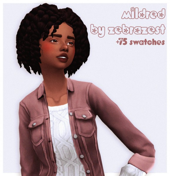 Cowplant Pizza: Mildred Hair Recolored for Sims 4