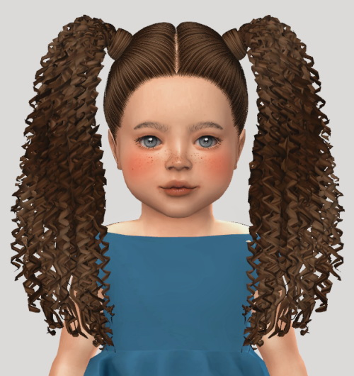 The Sims Resource: Nana hair retextured for Sims 4