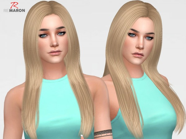 The Sims Resource: Cazy`s Over The Light Hair retextured by remaron for Sims 4