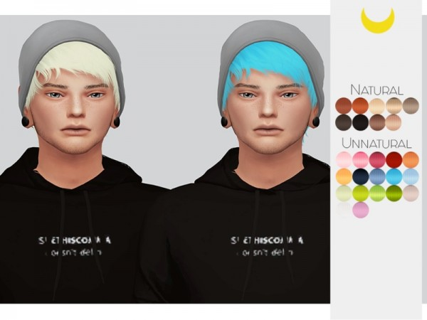 The Sims Resource: Stealthic`s Psycho hair retextured by Kalewa a for Sims 4