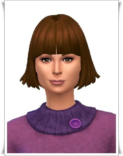 Birksches sims blog: Symmetric Bangs hair for Sims 4