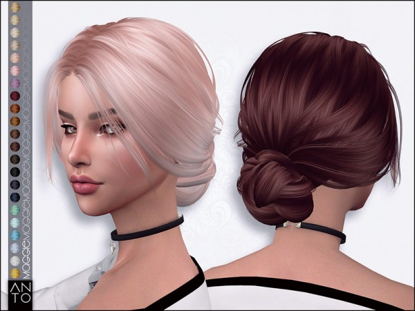 The Sims Resource: Maggie Hair by Anto for Sims 4
