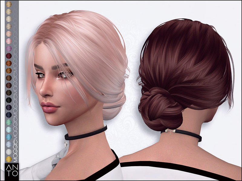 Sims 4 Hairs The Sims Resource Maggie Hair By Anto