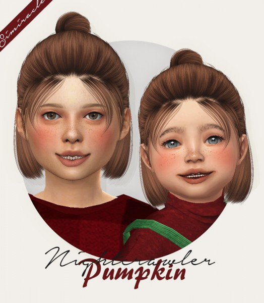 Simiracle: Nightcrawler`s Pumpkin Hair retextured for Sims 4