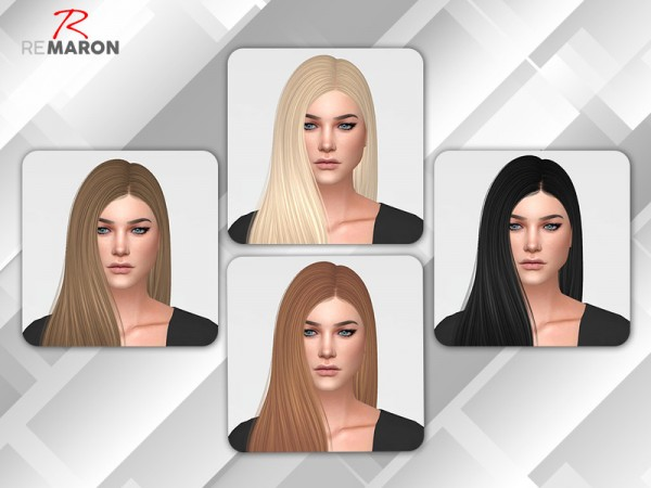 The Sims Resource: Freak On Hair Retextured by Remaron for Sims 4