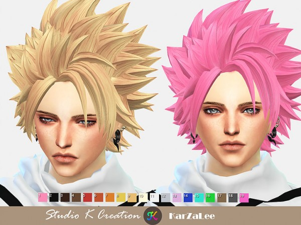 Studio K Creation: Animtehair 100 NATSU for Sims 4