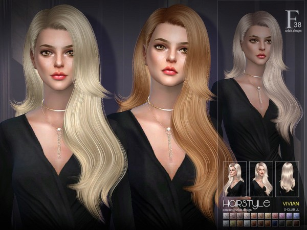 The Sims Resource: Vivian n38 hair by S Club for Sims 4