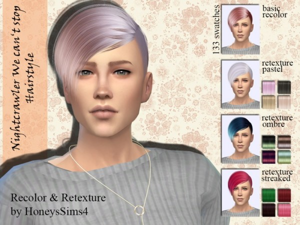 The Sims Resource: Nightcrawler`s We cant stop hair recolored by Jenn Honeydew Hum for Sims 4