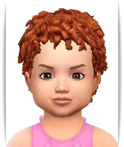 Birksches sims blog: Shorty Curls Hair   Kids Toddler version for Sims 4