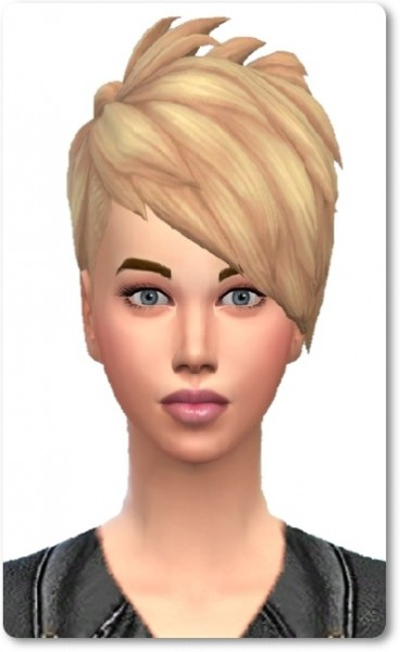 Birksches sims blog: Slashed Hair Short Bangs for Sims 4