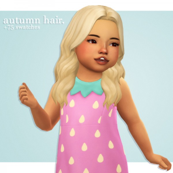 Cowplant Pizza: Autumn hair recolored for Sims 4