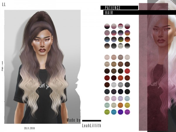The Sims Resource: Patience Hair by LeahLillith for Sims 4