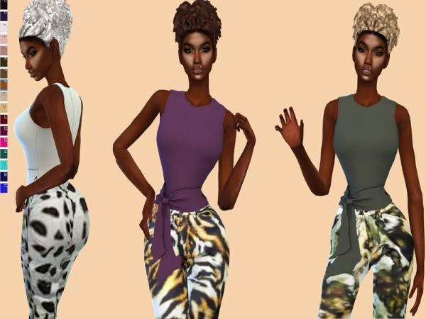 The Sims Resource: Carli Hair Recolored by Teenageeaglerunner for Sims 4