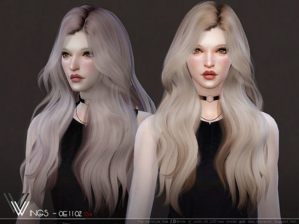 The Sims Resource: WINGS OE1102 hair for Sims 4